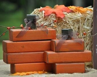 Fall/Halloween Wooden Pumpkin Set