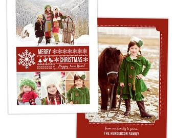 Christmas Card Template for Photographers Photography Card Templates - HC207