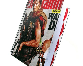 Norman Reedus 2017 2018 Daily Planner UpCycled Agenda Zombie Horror Student Graduation Gift