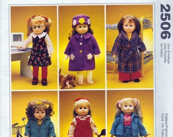McCalls Crafts Gotz 18 inch Doll Clothes and Dog Pattern - #2506 - Time To Dream -