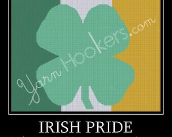 Irish Pride - Afghan Crochet Graph Pattern Chart - Instant Download