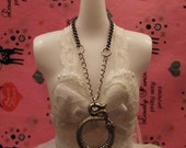 Silver Snake Necklace for 1/6 Fashion Dolls