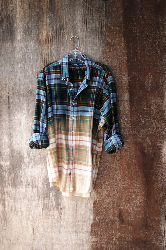 Mens Pink Plaid Shirt