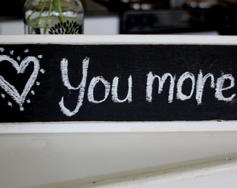Chalkboard Sign - Message Sign - Distressed Wood - White with Black Chalkboard