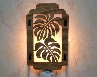 Monstera Tropical Leaf Night Light