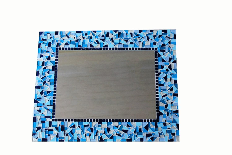 large blue mosaic wall mirror blue home decor mosaic mirror
