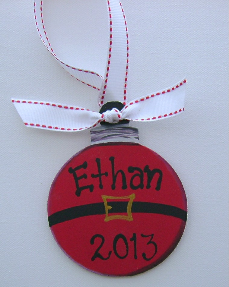 Hand painted personalized kids Christmas ornament by ...