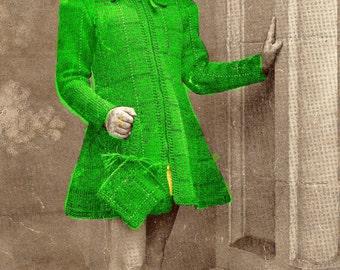 Almost FREE Vintage 1941 Girls Coat and Hat Set C191 PDF Digital Knit Pattern