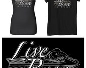 Make Your Statement  with the:  LIVE BRAVE, not BROKEN - Womans Tank. Size L