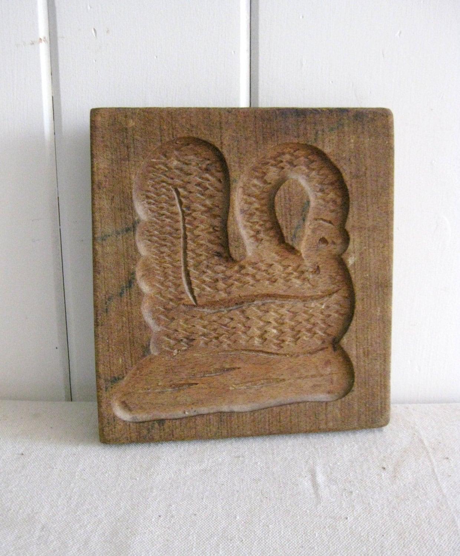 vintage holz schimmel hand geschnitzte schwan figur. Black Bedroom Furniture Sets. Home Design Ideas