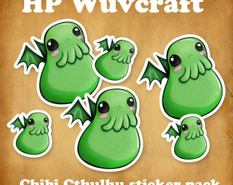 HP Wuvcraft: Chibi Cthulhu sticker pack