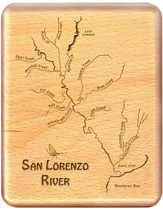 san lorenzo river fly fishing river map fly box