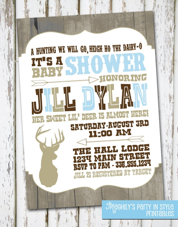 items similar to hunting baby shower invite on etsy