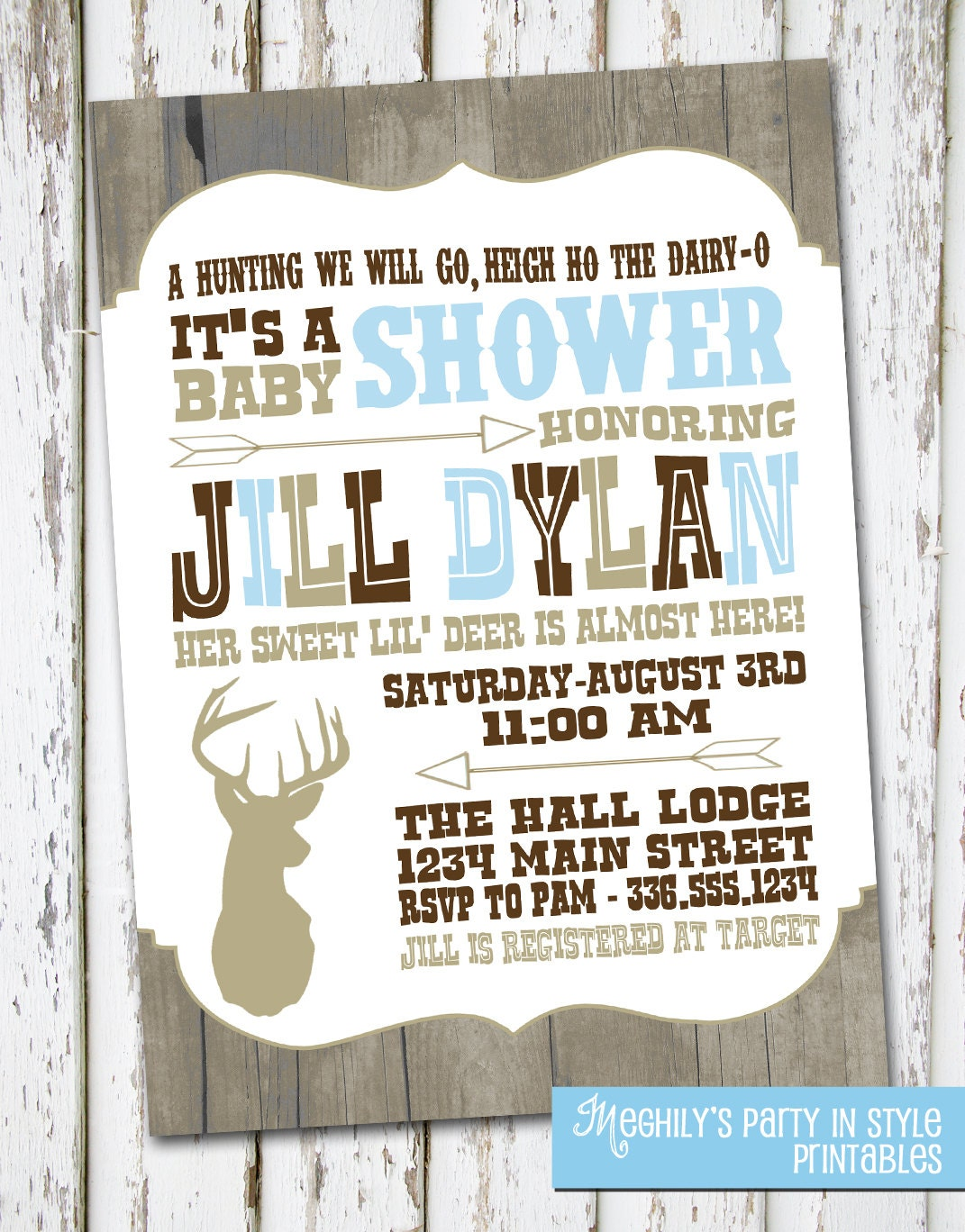 hunting baby shower invite etsy