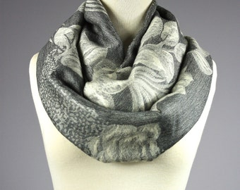 Infinity Scarf, rose infinity scarf,  gray scarf