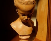 Graceful TERRACOTTA Sculpture BUST of a Young Girl French  Sculptor Saly