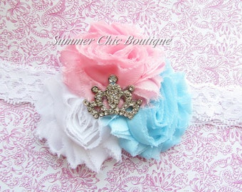Princess Headband, Baby Headband, Infant Headband, Newborn Headband, Shabby Chic Headband, Princess Headband