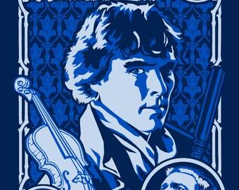 Sherlock Nouveau Print