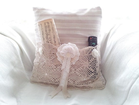 Pocket Pillow Bed Caddy Remote Control Holder By