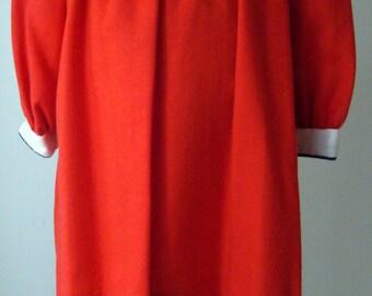 Girls Red Viyella Bowtie Dress - size 2T
