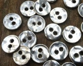 15 Round Pewter Silver Buttons for wrap bracelets, antique silver button closures, Buttons for bracelets, leather wrap buttons