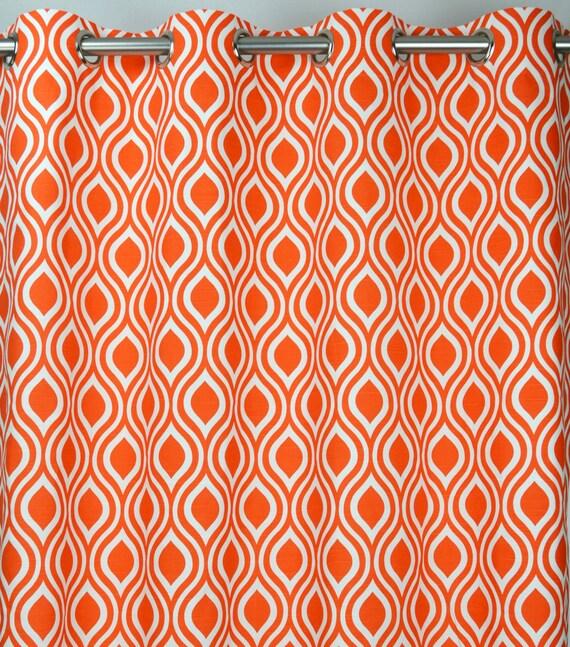 White Geometric Nicole Trellis Curtains - Grommet - 84 96 108 or 120 ...