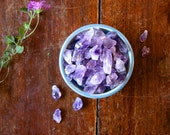 Rough Amethyst Points Raw Purple Crystal Specimen Healing Crystal Points for Intuition, Sleep Meditation Wicca Stones Third Eye Chakra