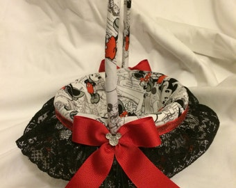 Disney Mickey and Minnie Mouse Inspired custom Flower Girl Basket