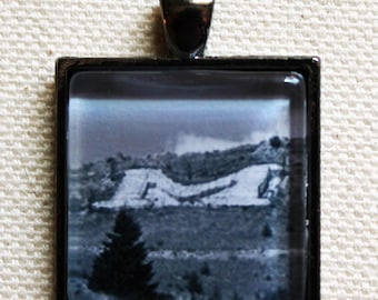Mount Sentinel Missoula Montana Pendant for Necklaces, Keychains, Bookmarks, and Bottle Openers