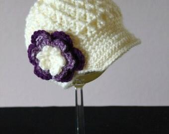 Textured Newsboy Visor Hat
