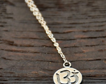 OM Necklace/OHM/Spiritual/Yoga/Charm Necklace/Sterling Silver/Gold Filled