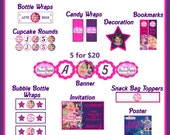Barbie Princess and the Popstar Birthday Party Package - Choose 5 Super Fun Printables for Your Special Party - DIGITAL