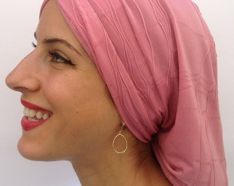 Very Soft Pink Classic Snood, Turban