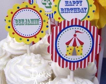 Circus Cupcake Topper-Printable Circus Cupcake Toppers-Circus Cupcake Topper-Circus Carnival Cupcake Topper-Circus Party-Carnival Party