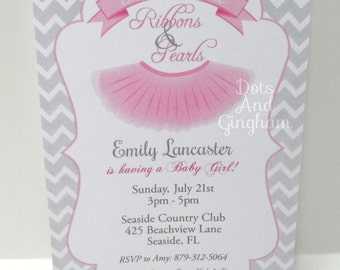 tutu cute baby shower invitation tutu baby shower invitation sugar and