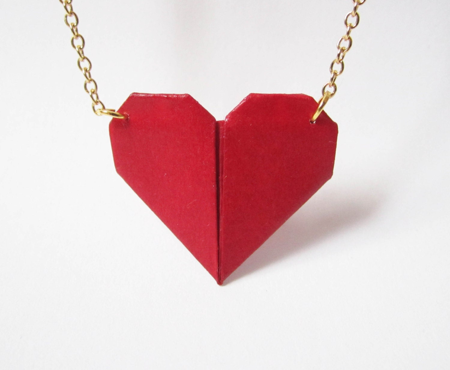 Origami heart necklace // SALE 20% - photo#28