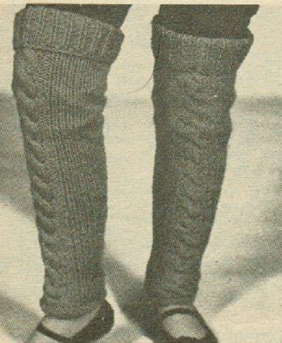 Knit Cable Leg Warmers Easy Quick Beginners Knitting Pattern