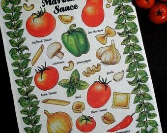 Italian Tomato Sauce-Kitchen Towel-Marinara