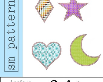 Machine Embroidery Design - Applique Shapes Pack 2