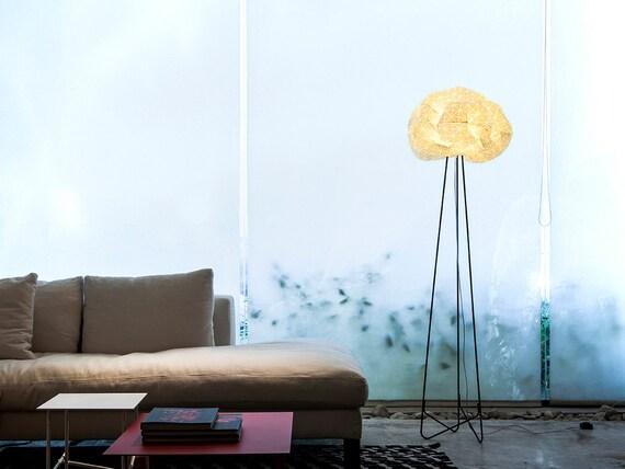 Origami Floor Lamp White And Black Lighting Fabric