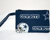 Dallas Cowboys NFL Wristlet,  iPod Bag, Smart Phone Bag,  Digital Camera Bag Small Tech Bag