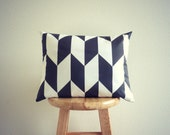 Black and White Herringbone Pillow Cover - Geometric Cushion Cover - GeometricElectric