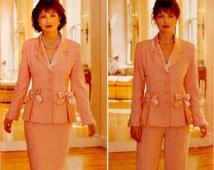 Women Two Piece Suit Pattern Princess Seam Jacket Straight Skirt Pants Noviello Boom Butterick 4094 Sewing Pattern Uncut Size 12 14 16