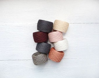 Crochet thread - mix of 8 Linen Thread hanks