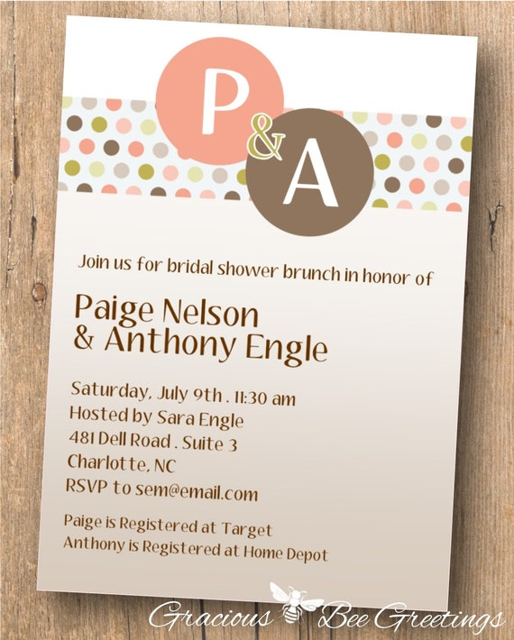 Couples Shower Invitation Digital By GraciousBeeGreetings