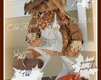 Primitive Scarecrow Pattern The Floppy, Floppy Scarecrow Raggedy Fall ePattern