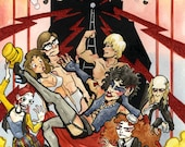 Rocky Horror Picture Show, Original Mixed Media Watercolor Painting
