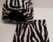 Guinea Pig Cavy Shack in Zebra and black