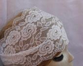 White Stretchy Lace headband ,Turban Headband Twist Stretchy Hair Bands, - Bohomian Headband Lace Turban Head Scarf