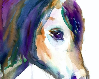 Horse Watercolor Print, 8 x 10 Print, Watercolor Horse, Horse Painting, Animal Painting, Nursery Art,  Pony Painting, Abstract Animal Art